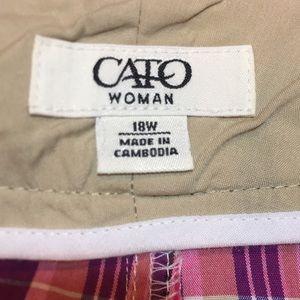 Cato Shorts - Women's shorts Sz 18W Plus Size pink/purple plaid